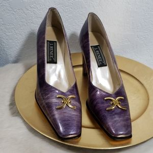9.5 Moody Purple Gold 3 inch heels